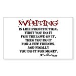 Moliere Writing Quote Rectangle Sticker