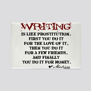 Moliere Writing Quote Rectangle Magnet