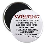 Moliere Writing Quote Magnet
