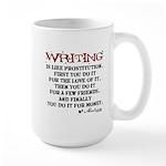 Moliere Writing Quote Large Mug