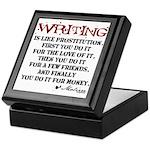 Moliere Writing Quote Keepsake Box