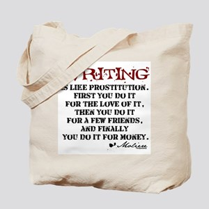 Moliere Writing Quote Tote Bag