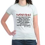 Moliere Writing Quote Jr. Ringer T-Shirt