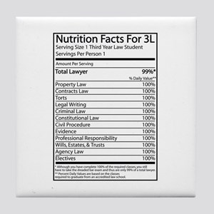 Nutrition Facts For 3L Tile Coaster