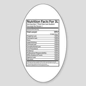 Nutrition Facts For 3L Oval Sticker