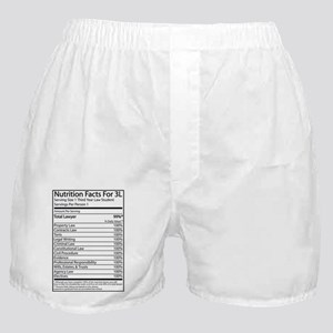 Nutrition Facts For 3L Boxer Shorts
