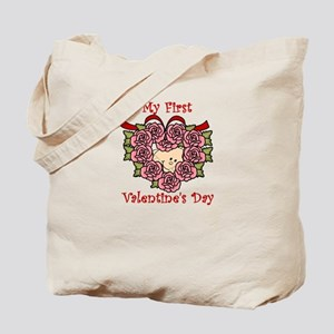 First Valentine's Day PINK Tote Bag
