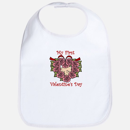 First Valentine's Day PINK Bib
