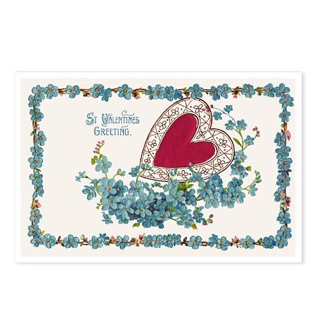 St. Valentine's Vintage Postcards (Package of 8)