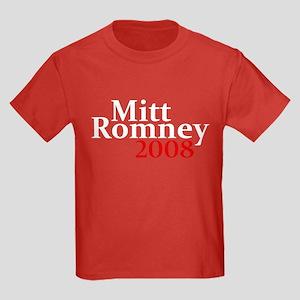 Mitt Romney 2008 Kids Dark T-Shirt