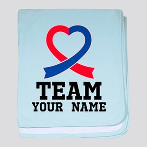 CHD Awareness Ribbon Personalized baby blanket