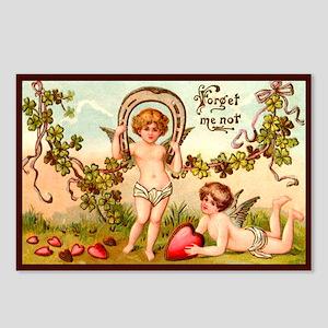 Forget Me Not Vintage Valentine Postcards (8 pack)