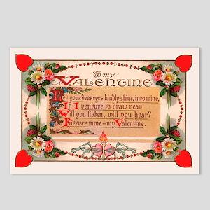 Forever Mine Vintage Valentine Postcards (8 pack)