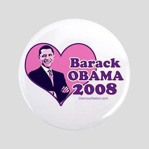 """Obama 10 3.5"""" Button"""