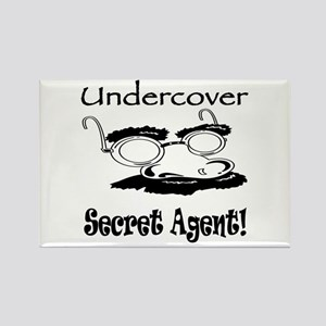 Undercover Secret Agent Rectangle Magnet