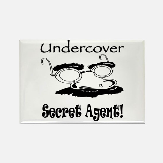 Undercover Secret Agent Rectangle Magnet