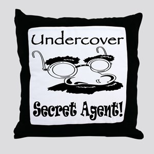 Undercover Secret Agent Throw Pillow