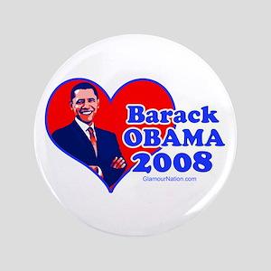 """Obama 11 3.5"""" Button"""