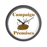 Campaign Promises Wall Clock