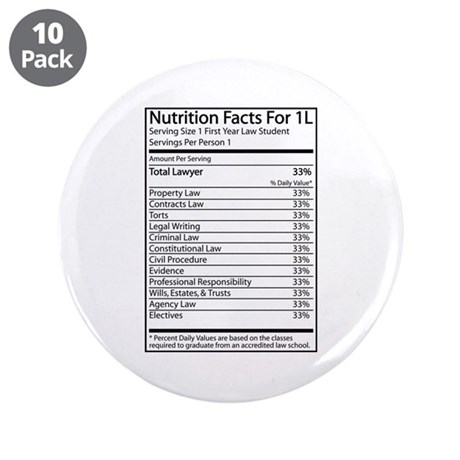 "Nutrition Facts For 1L 3.5"" Button (10 pack)"