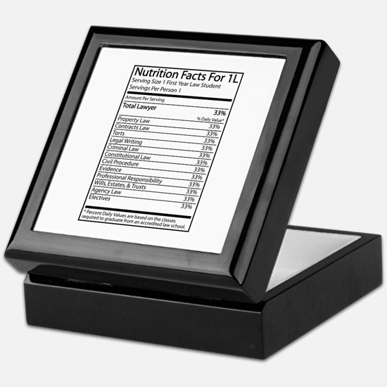 Nutrition Facts For 1L Keepsake Box