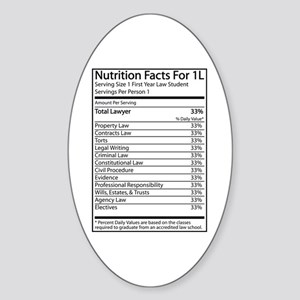 Nutrition Facts For 1L Oval Sticker
