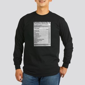 Nutrition Facts For 1L Long Sleeve Dark T-Shirt