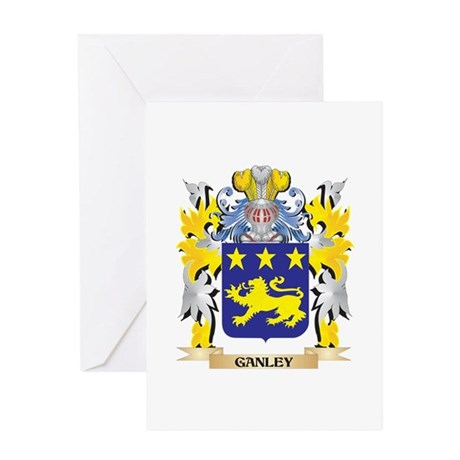 Ganley Coat of Arms - Family Crest Greeting Cards