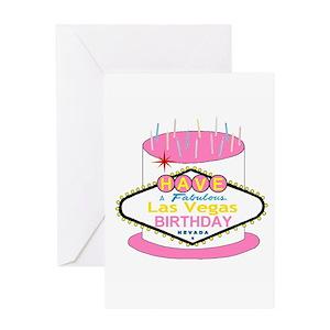 vegas birthday greeting cards cafepress
