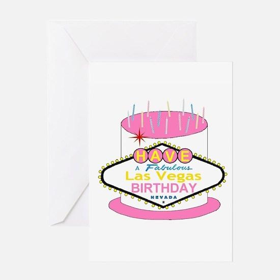 Las Vegas Birthday Cake Greeting Card