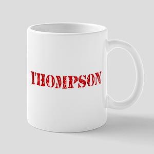 Thompson Retro Stencil Design Mugs