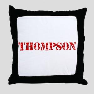 Thompson Retro Stencil Design Throw Pillow