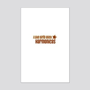 I Like Girls with Harmonicas Mini Poster Print