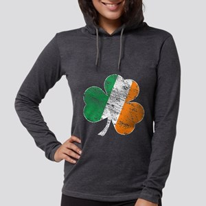 Vintage Distressed Irish Flag Long Sleeve T-Shirt