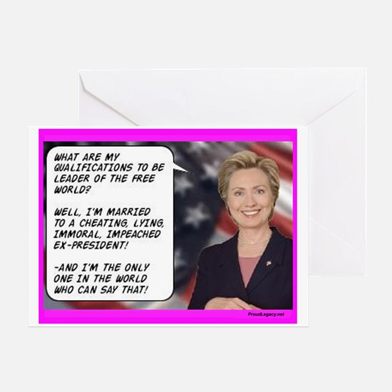 """""""Hillary's Qualifications"""" Greeting Card"""