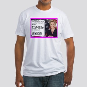 """Hillary's Qualifications"" Fitted T-Shirt"