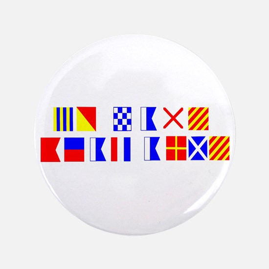 Go Navy Beat Army In Flags 3.5&Quot; Button