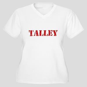 Talley Retro Stencil Design Plus Size T-Shirt