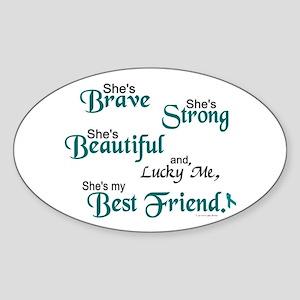 Lucky Me 1 (Best Friend OC) Oval Sticker