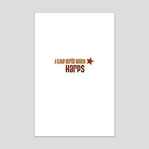 I Like Girls with Harps Mini Poster Print