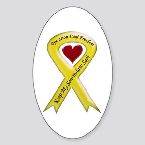 Yellow Ribbon Son-in-law Oval Sticker