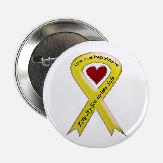 Yellow Ribbon Son-in-law Button