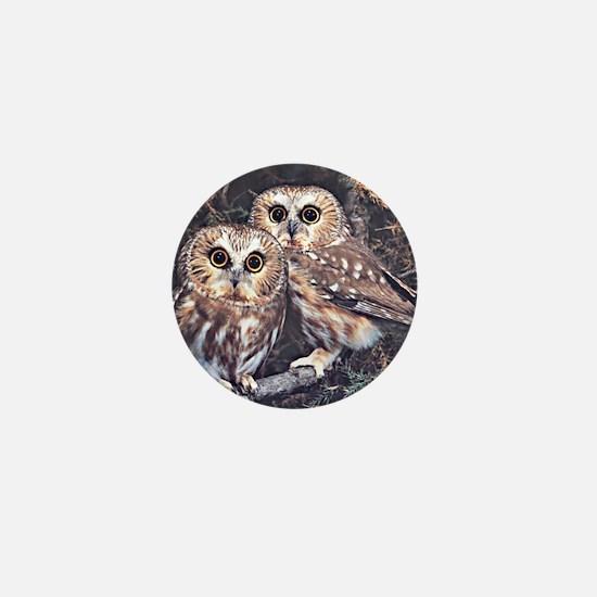 Cute Owl Mini Button (10 pack)