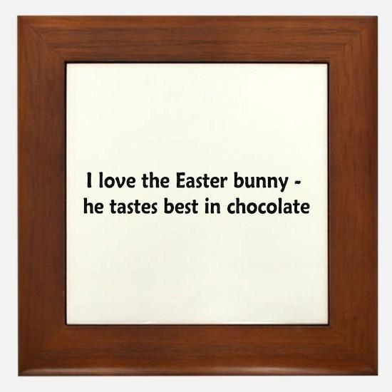 Love Chocolate Bunnies Framed Tile