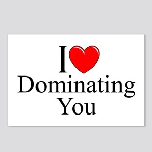 """""""I Love (Heart) Dominating You"""" Postcards (Package"""