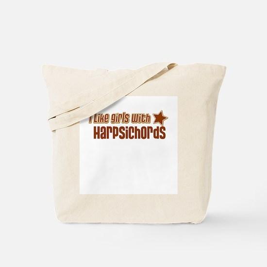 I Like Girls with Harpsichord Tote Bag