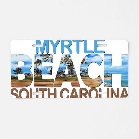 Cute Myrtle beach Aluminum License Plate