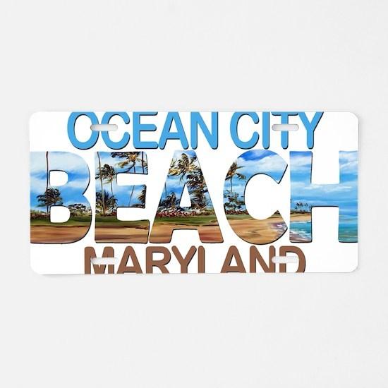 Cute Ocean city maryland Aluminum License Plate
