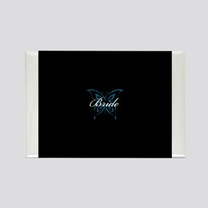 Bride - Blue Butterfly Rectangle Magnet