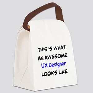 awesome ux designer Canvas Lunch Bag